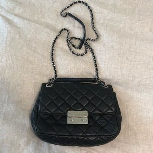 Michael Kors black quilted purse